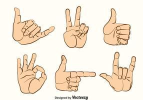 Insieme di vettore di gesti di mano