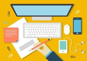 Free Desk Design Illustrazione vettore