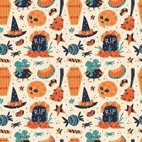 felice halloween seamless pattern vettore
