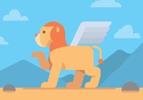Disegno vettoriale di leone alato