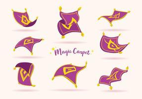 Vettore di tappeto magico viola