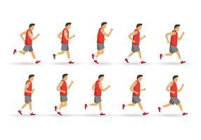 camminare e correre ciclo vettore