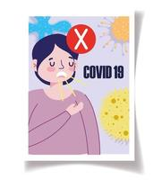 modello di poster di consapevolezza del coronavirus