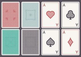 set di carte di assi