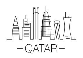 Illustrazione vettoriale del Qatar