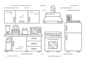 Illustrazione di cucina gratis vettore