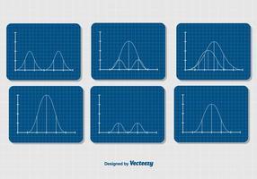 Set di diagrammi curva campana gaussiana
