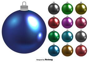 Set di palle di Natale lucido vettoriale