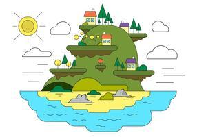 Illustrazione vettoriale paesaggio gratuito