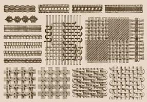 Texture di pizzo vettore