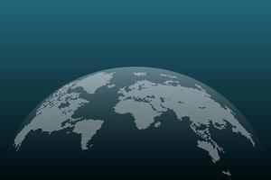 puntini mappa del mondo vettore