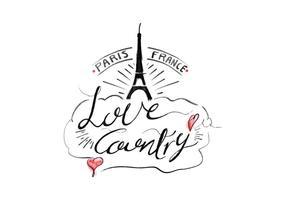 Iscrizione gratuita Francia Acquerello vettoriale