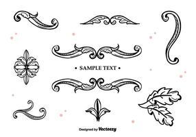 Ornamenti vettoriali disegnati a mano