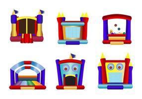 Vettori di icona di casa di rimbalzo di bambini