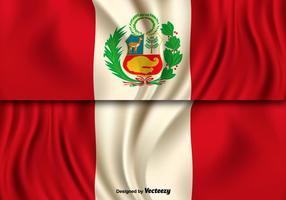Illustrazione vettoriale della bandiera del Perù