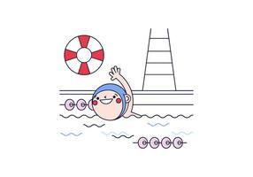 Vettore di nuoto gratuito