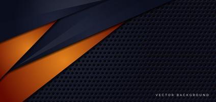 banner con modello di sfondo trama metallica