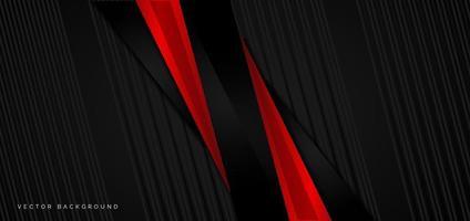 modello di banner sfondo astratto nero e rosso aziendale vettore