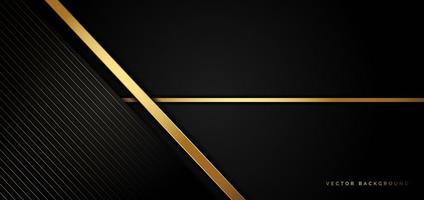 sfondo nero di affari con strisce dorate in uno stile di lusso vettore