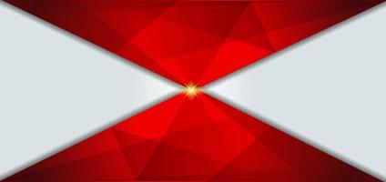 sfondo bianco e rosso geometrico vettore