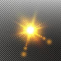 luce solare lente speciale bagliore effetto luce vettore