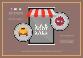 Applicazione mobile Evento Car Boot vettore
