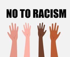 progettare no al razzismo vettore