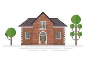 costruzione di casa isolata vettore