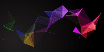 banner low poly arcobaleno vettore