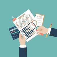analisi dei dati di verifica fiscale vettore