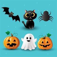 raccolta di elementi di halloween vettore