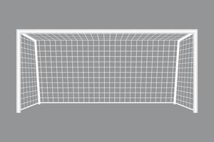 obiettivo di calcio isolato