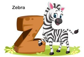 z per zebra vettore