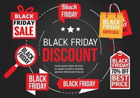 Icone vettoriali gratis Black Friday