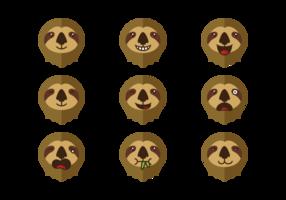 Vettore di espressione di emozioni di bradipo