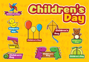 Vettori felici di giorno dei bambini