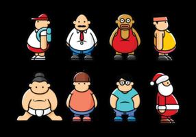 vettore di ragazzi grassi
