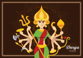 Dea Durga Illustration vettore