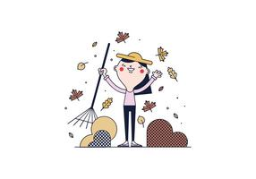 caduta foglie vettoriali