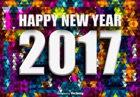 Vettore 2017 nuovo anno di sfondo