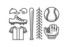 Kit di baseball vettoriale