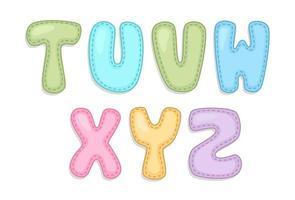 alfabeto del bambino parte 3 vettore