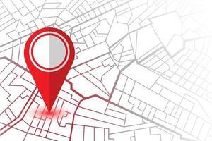 pin di posizione nella mappa del navigatore vettore