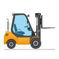 carrello elevatore a forcale giallo isolato vettore