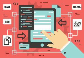 Illustrazione di vettore di marketing piatto digitale gratuito