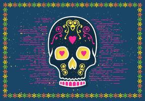 Illustrazione di vettore di Halloween Sugar Skull
