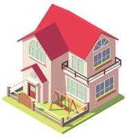casa isometrica a due piani