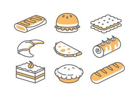 Icone di panetteria / torta vettore