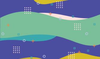 forme geometriche astratte sfondo di memphis