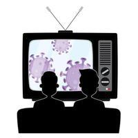 2 ragazzi seduti sul divano e guardano le notizie sui virus vettore